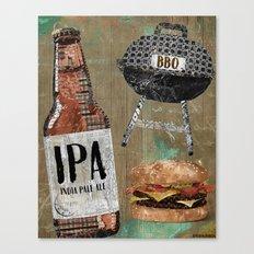 Beer & BBQ Canvas Print