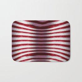 Red and White Organic Rib Cage Bath Mat