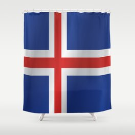 Flag of Iceland Shower Curtain