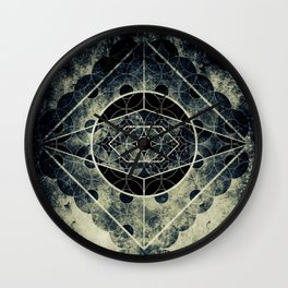 Sacred Geometry for your daily life -  SATURN EYE Wall Clock