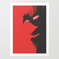 nightmare Art Prints featuring Nightmare by Pulvis