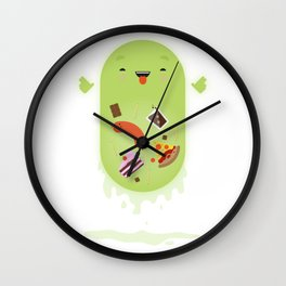 Ghostbusters - Slimer - You'll Ruin Your Dinner. Wall Clock