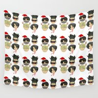 boys Wall Tapestries featuring Christmas Boys by Jessie Foo