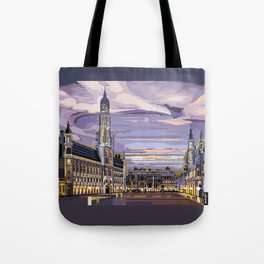 Brussels, Belgium pixel art Tote Bag