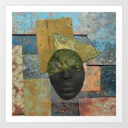 #13 Face & Metal Digital Collage Art Print