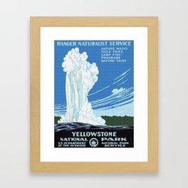 Vintage Yellowstone National Park Travel Framed Art Print