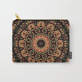 Ombre Floral Mandala Carry-All Pouch