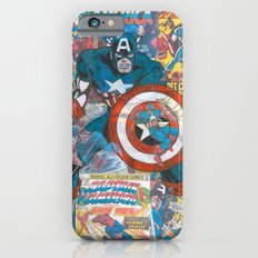 Vintage Comic Capt America iPhone 6 Slim Case