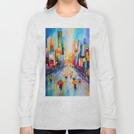RAINING IN THE CITY Long Sleeve T-shirt