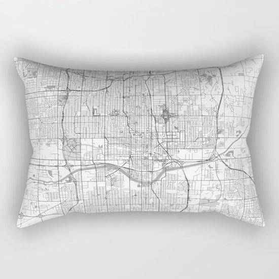 Oklahoma City Map Line Rectangular Pillow