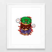 donut Framed Art Prints featuring Donut by jeff'walker