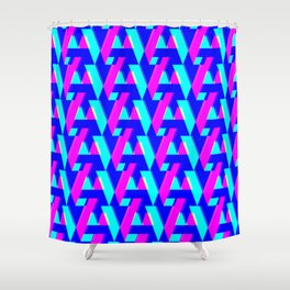 A/V + neon dots Shower Curtain