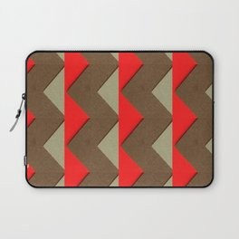 Autumn Colored Triangles Laptop Sleeve