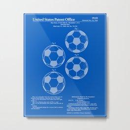 Soccer Ball Patent - Blueprint Metal Print