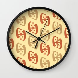 Starburst Bell Peppers Yellow Wall Clock