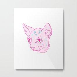 Neon Sphynx Metal Print