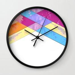 Textured Abstract Wall Clock