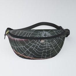 Web-Captured Dew Drops Fanny Pack
