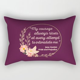Pride and Prejudice Quote I - Cute Style Rectangular Pillow