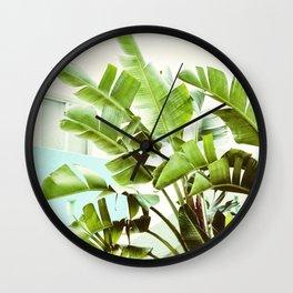Banana Palms Wall Clock