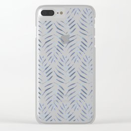 Palm Trees in blue Clear iPhone Case