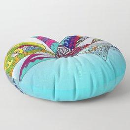 fantastic geometrical forms -3- Floor Pillow