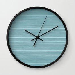 Island Paradise Blue Weathered Whitewash Wooden Beach House Wall Clock