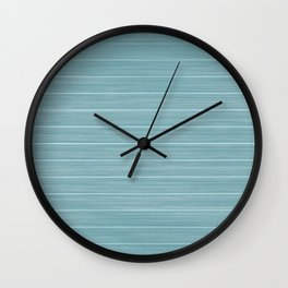 Island Paradise Blue Weathered Whitewash Wooden Beach House Wall Clock