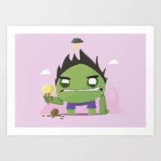 Chubby Hulk Art Print