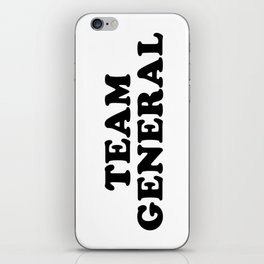 TEAM GENERAL iPhone Skin