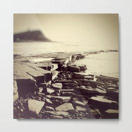 The Misty Shore Metal Print