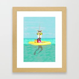 Unicorn in a Pool Framed Art Print