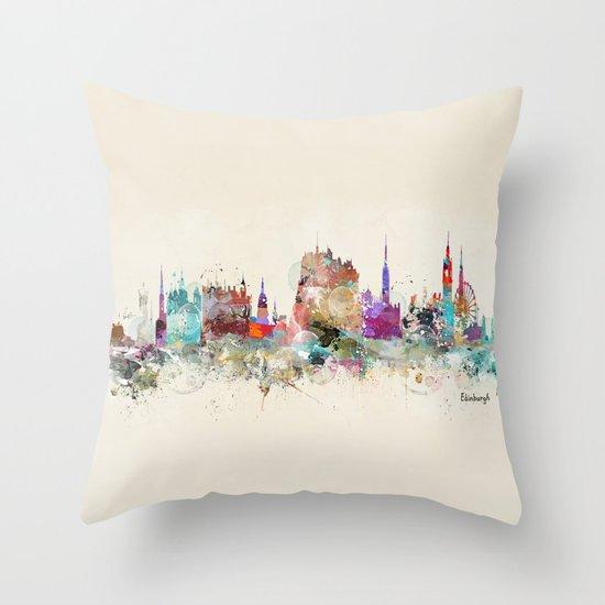 edinburgh scotland Throw Pillow