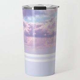 Dreamy Pastel Sky on Violet Travel Mug