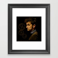 The Tenth Doctor with Gallifreyan Framed Art Print