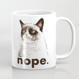 NOPE - Grumpy cat. Coffee Mug