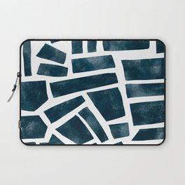 abtract indigo tile pattern Laptop Sleeve
