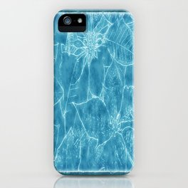 Mixed Color Poinsettias 2 Outlined Blue iPhone Case