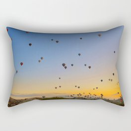 Colorful hot air balloons against blue sky at Cappadocia Turkey Rectangular Pillow