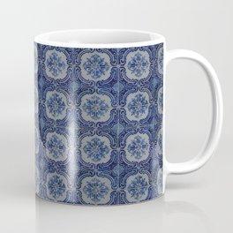 Vintage blue ceramic tiles pattern Coffee Mug
