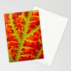 leaf abstract II Stationery Cards