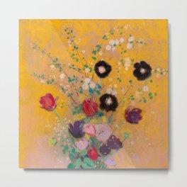 "Odilon Redon ""Vase of Flowers"" 1916 Metal Print"