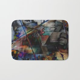 Many Faces in Time Bath Mat