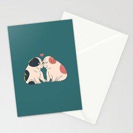 English Bulldog Kisses Stationery Cards