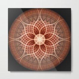 Trance Lotus Mandala Metal Print