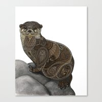 otter Canvas Prints featuring Otter by ZHField