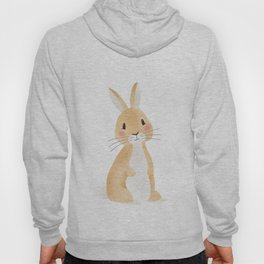 Cute rabbit illustration on white background Hoody