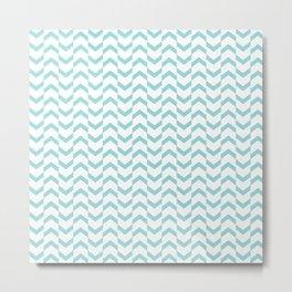 Limpet shell chevron  Metal Print