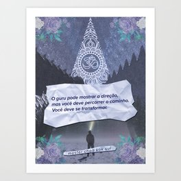 Transform Yourself (Portuguese) Art Print