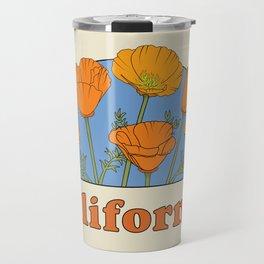 California Poppies Travel Mug